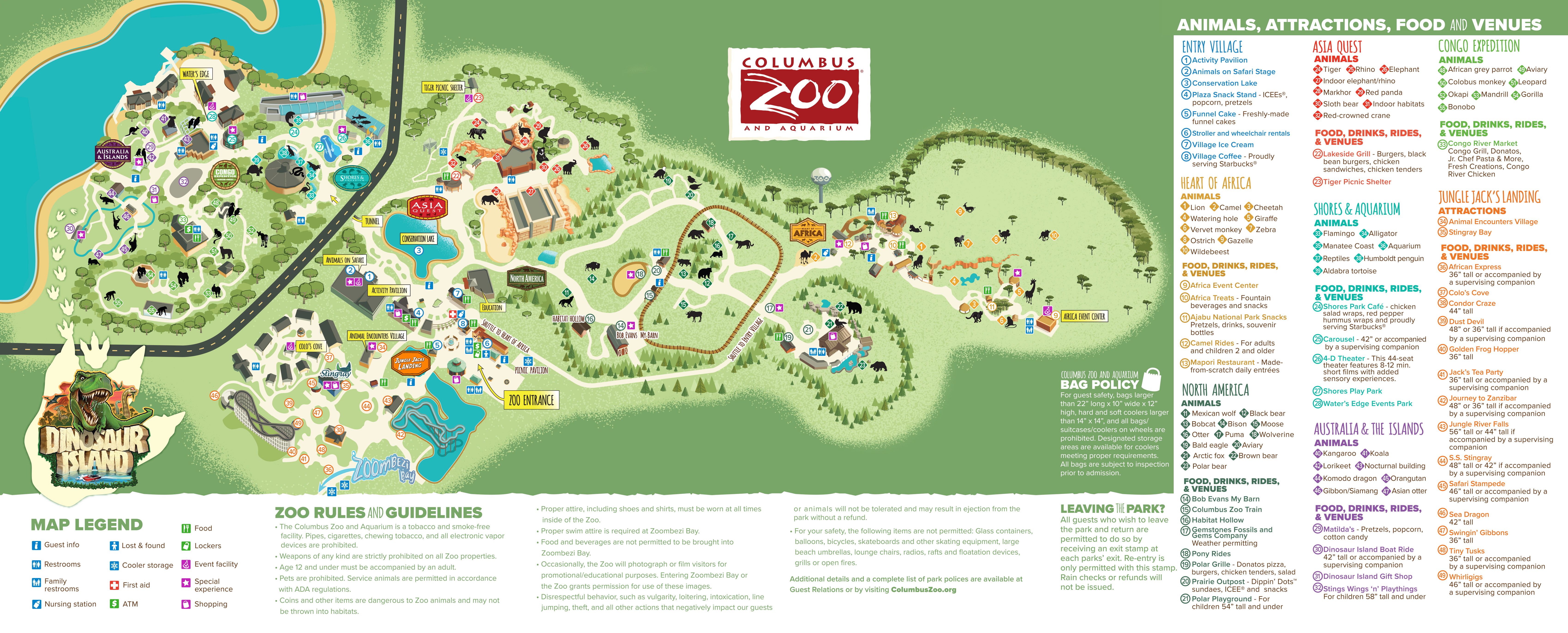 Columbus Zoo And Aquarium Park Map